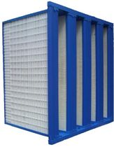 Air filter / bag / V / for gas turbines