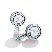 Analog pressure gauge / electronic / process / with integrated LED lighting