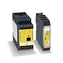 DIN rail-mounted safety monitor