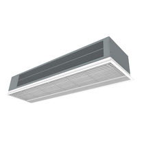 Horizontal air curtain / built-in / with electric heating / with water heating