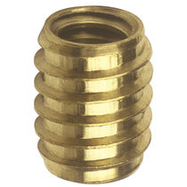 Threaded insert / self-tapping / brass / round