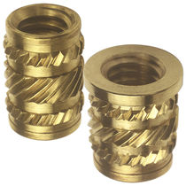 Threaded insert / knurled / metal / round