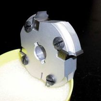 Shell-end milling tool / with replaceable insert / slot / carbide