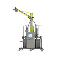 Adhesive mixer-dispenser / with gear pump / two-component
