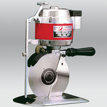 Fabric cutting machine / rotary blade / portable / hand-held