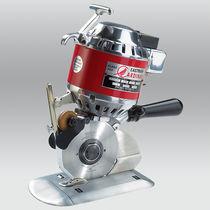 Slitting machine cutting machine / for fabrics / rotary blade / portable