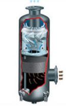 Coalescing separator / liquid / compact