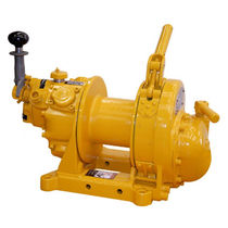 Pneumatic winch / rotary drum / rugged / for offshore applications