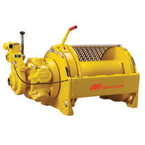 Pneumatic winch / man-riding / compact / rotary drum