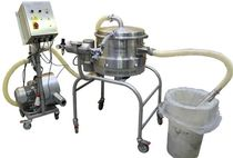 Vibrating sieving machine / for bulk materials / for powders / for pharmaceutical applications