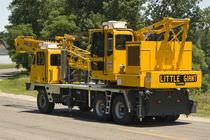 Rail crane / lattice / boom / for construction