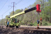 Rail-mounted crane / telescopic / all-terrain