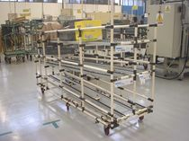 Handling cart / metal / shelf / for fragile products