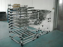 Handling cart / metal / shelf / multipurpose