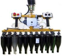 Pneumatic manipulator / multi-grip / positioning / for glass bottles