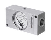 Liquid flow meter / portable / in-line / for hydraulic installations