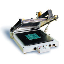 Monochrome stencil printer / for electronics / automatic / flat bed