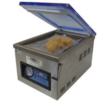 Vacuum packing machine / bell type / for the food industry / table-top