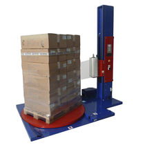 Turntable stretch wrapping machine / semi-automatic / for pallets / stretch film