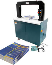 Semi-automatic strapping machine / for magazines and newspapers / high-speed / vertical
