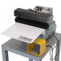 Semi-automatic heat sealer / foot-operated / for bag closing / vertical