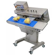 Continuous heat sealer / semi-automatic / sachet / horizontal