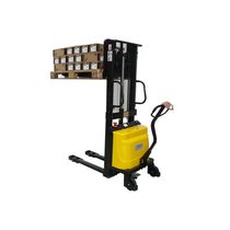 Manual stacker truck / semi-electric / electro-hydraulic / walk-behind