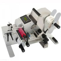 Semi-automatic labelling machine / for self-adhesive labels / for bottles