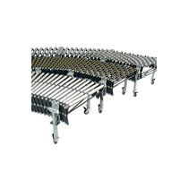 Roller conveyor / mobile / extendable / horizontal