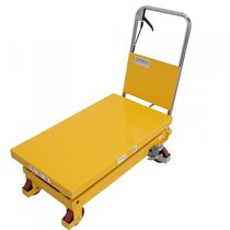 Double-scissor lift table / hydraulic / manual / pedal-operated
