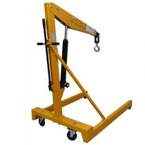 Mobile workshop crane / hydraulic / mobile / lifting