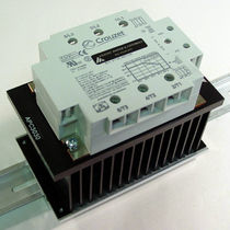Solid-state relay / DIN rail / panel-mount / three-phase