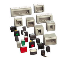 Wall-mounted electrical enclosure / plastic / circuit breaker / for construction sites