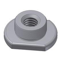 Threaded insert / steel / flat / for plastics