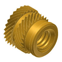 Threaded insert / brass / round / for thermoplastics