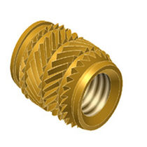 Threaded insert / knurled / brass / round