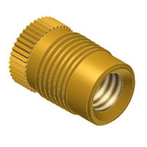 Threaded insert / press-in / brass / round