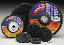 Synthetic fiber abrasive disc / for finishing / for metal / non-woven