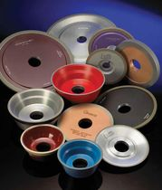 Peripheral grinding wheel / diamond / cutting / for grinding machines