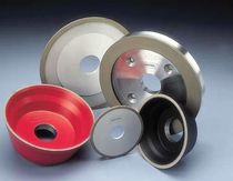 Surface treatment grinding wheel / tapered / peripheral / CBN