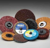 Aluminum oxide abrasive disc / for finishing / for metal / non-woven