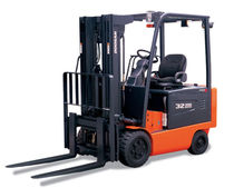 Ride-on forklift / electric / handling / pneumatic tire
