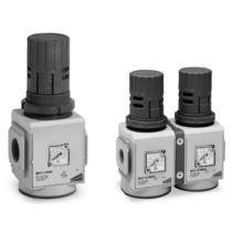 Compressed air pressure regulator / membrane / single-stage / in-line