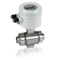 Electromagnetic flow meter / for liquids / economical / in-line