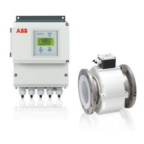 Electromagnetic flow meter / for liquids / in-line / rugged
