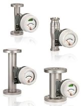 Variable-area flow meter / for liquids / metal tube / stainless steel