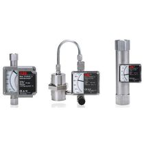 Variable-area flow meter / for liquids / metal tube / in-line