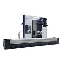 3-axis CNC milling machine / swiveling-spindle / with fixed table / traveling-column
