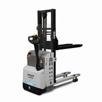 Electrical stacker truck / walk-behind / double-pallet