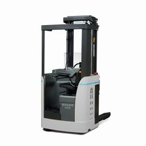 Electric stacker truck / side-facing seated / transport / for lifting